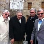 Diretores da ABRADJIN são recebidos pelo prefeito de Belmonte, o Sr. Amândio Ferreira de Melo, que os leva num citytour pelo bairro judaico da cidade.