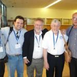 Grupo representante da ABRADJIN em ISRAEL: Leon (Holanda), Matheus Zandona (Brasil), Samuel Del Coso (Espanha), Joseph Shulam e Udi Sofet (Israel).
