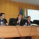 Palestra de recepção do Grupo da ABRADJIN feita pelo Sr. Júlio Sarmento, prefeito da cidade de Trancoso.