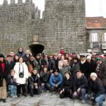 Grupo da ABRADJIN às portas de Trancoso – Portugal.