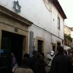 Visita do grupo da ABRADJIN à sinagoga medieval de Tomar - Portugal.