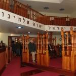Grupo da ABRADJIN na sinagoga restaurada de Belmonte.
